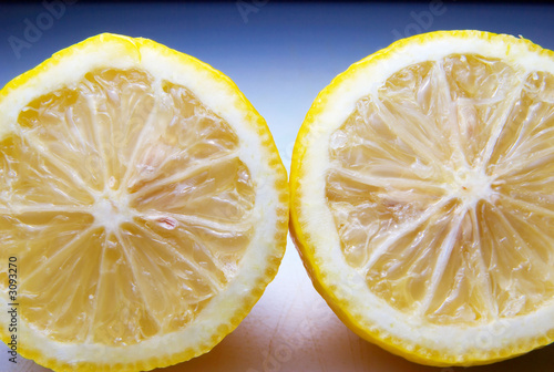lemon cut in half