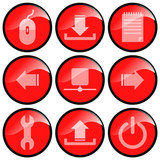 icon schalter administration poster