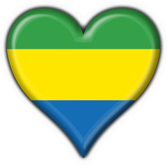 bottone cuore gabon button heart flag
