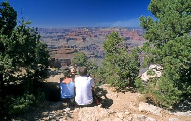 grand canyon, besucher am south rim