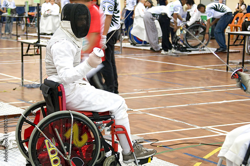 wheel chair fencing