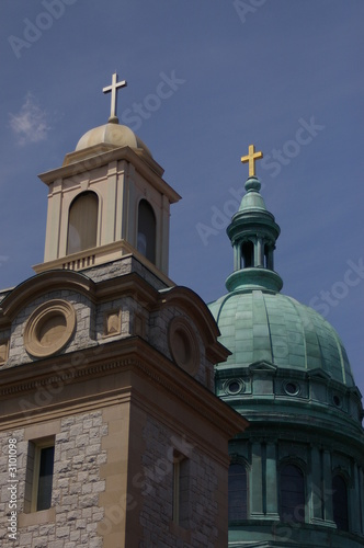 church steeple and dome