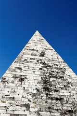 pyramid of cestius is egyptian style pyramid in ro