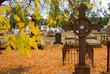 historic cemetery in autumn