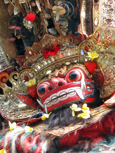 legong dance - lion mask, bali, indonesia