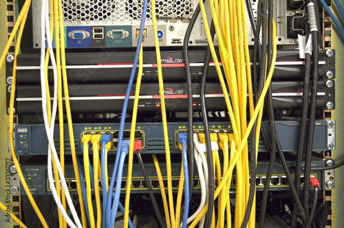 poster of behind servers and switches cables