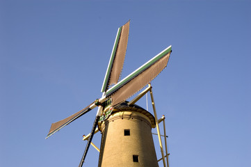 windmill blue sky