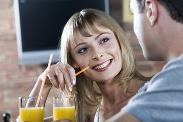 flirting in the bar