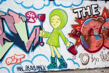 graffiti mädchen - berliner mauer - mauerpark