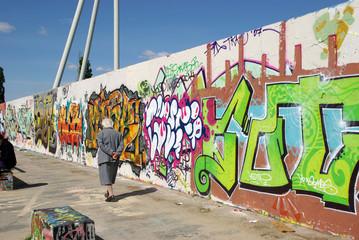 graffiti - spaziergang am mauerpark
