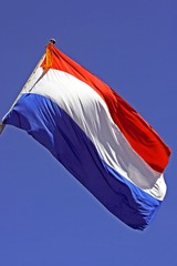 dutch flag with orange streamer