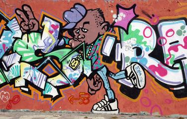 graffiti mann - berliner mauer - mauerpark