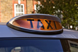 taxi for hire light, london poster