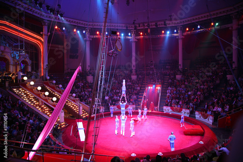 Leinwanddruck Bild circus performance
