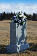 headstone marking grave