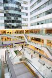 shop interior with escalator