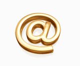 gold e-mail poster