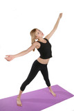 woman exercising poster