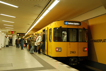 in der metro station