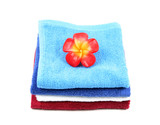 colorful fluffy towels poster
