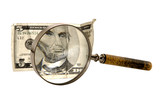 magnifying us currency