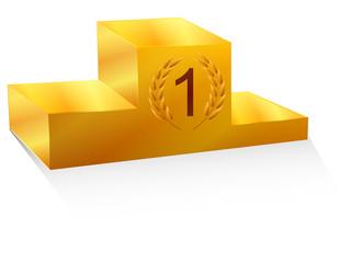 podium en or