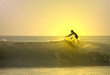 surfer on the top of the wave