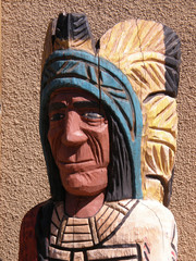 painted wooden indian