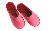 pink fluffy slippers poster