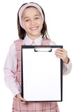 student with notepad poster