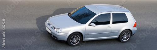Foto op Plexiglas Motorsport isolated silver german coupe drive high speed