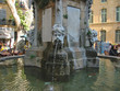 Leinwanddruck Bild - artistic water fountain, aix,en,provence, marseille, france