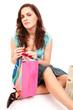 Красивая девушка с пакетами из магазина, фото 76748, снято 1 апреля 2007...