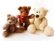 three teddy-bears