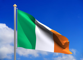 ireland flag (include clipping path)