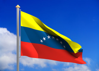 venezuela flag (include clipping path)