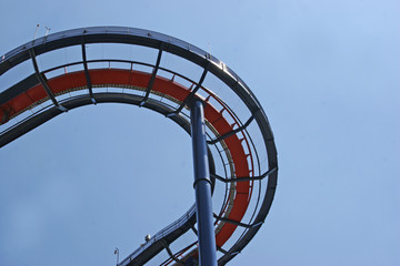 detail of a roller coaster
