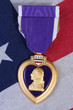 american purple heart medal vertical image