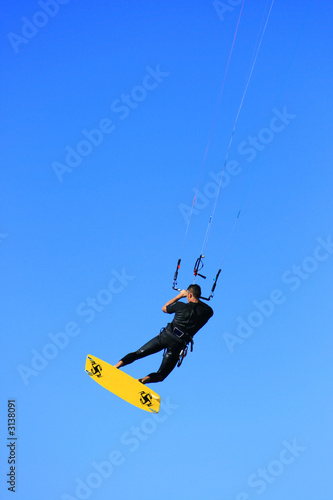 flying kiter isolated