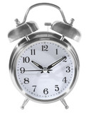 alarm clock, outlined poster