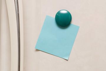 blank note on fridge