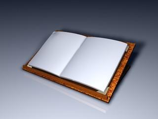libro aperto bianco