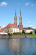 cathedral in wroclaw town