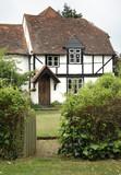 timber framed cottage poster