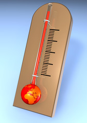 red warming earth as thermometer
