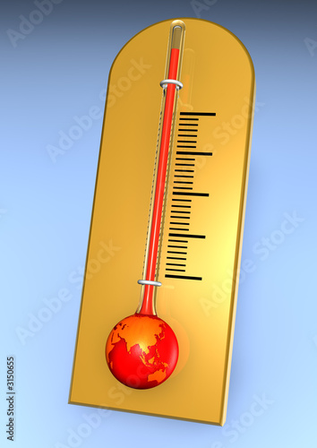 china warming earth as thermometer