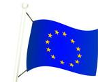 drapeau européen poster
