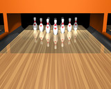 bowling alley poster