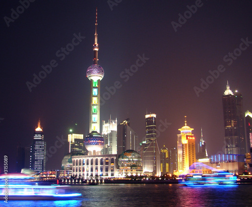 night view in shanghai