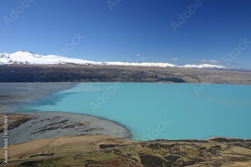 lake pukaki aerial view - new zealand